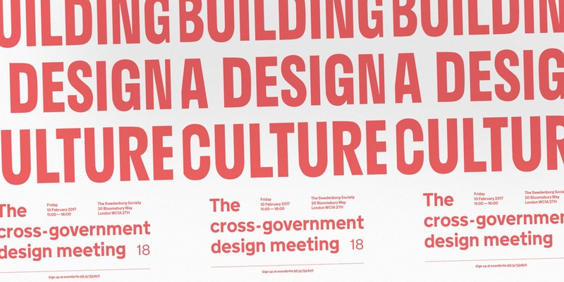 Cross Government Design meeting #18 poster